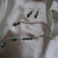 Jade - Backdrop Necklace & Earring Set