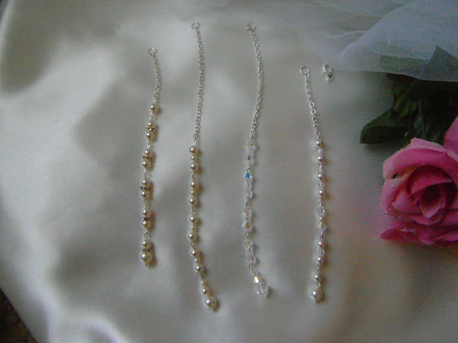 Backdrop Lariat Attachment - Swarovski Crystals  Pearls Rhinestones