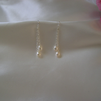 Amore - Freshwater Pearl Drop Earrings
