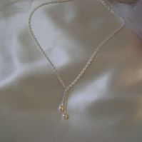 Amore - Freshwater Pearl Drop Bridal Necklace