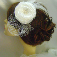 Iris - Ivory Jewelled Bridal Flower Headband - Other Options Available