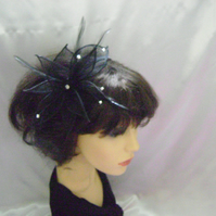Delia - Sinamay & Diamante Fascinator