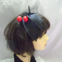 Cherry Cocktail Fascinator - FREE UK POSTAGE!