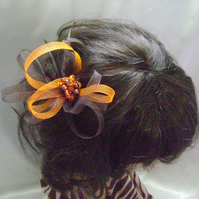 Chocolate Orange Fascinator Comb