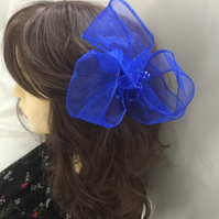 Brooklynn - Blue Crystal Fascinator - FREE UK POSTAGE!