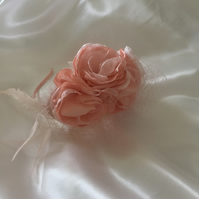 Posey - Pale Pink Flower Fascinator - FREE UK POSTAGE!
