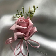 Vintage Pink Rose Spray Wedding Boutonniere Butttonhole - Various Colours