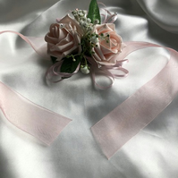 Bridesmaid Wrist Corsage - Maid of Honour Corsage - Prom Wrist Corsage