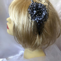 Leona - Beaded Animal Print Fascinator - Only One!