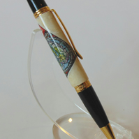Stained-Glass Postage Stamp Pen