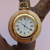 Yew Pocket Watch