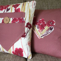 Set of 2 Country Flowers Cushion Covers