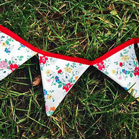 2 Meter Flower Bunting Made With Genuine Cath Kidston Fabric