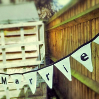 Just Married Personalised Bunting
