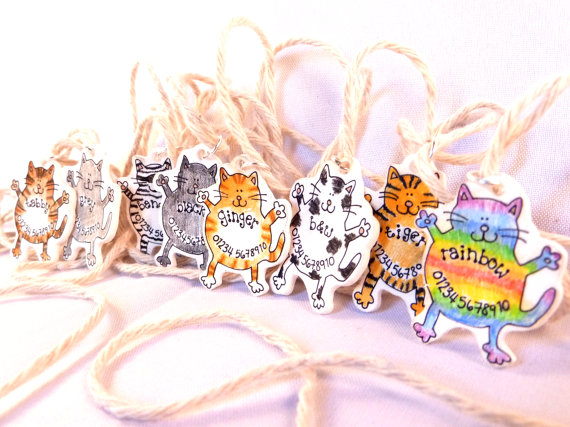 Custom Cat ID tags