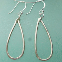 Teardrop sterling silver earrings