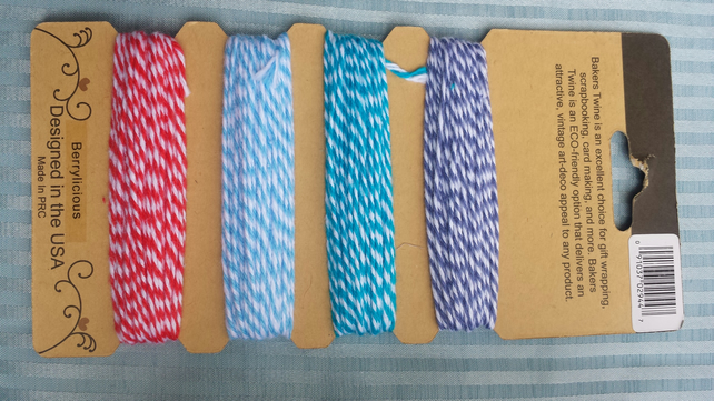 Bakers twine- blues and red