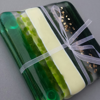 green glass coasters