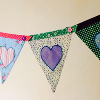 All the hearts bunting banner