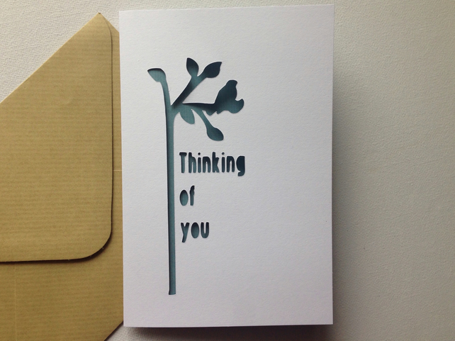 Thinking of you sympathy get well card