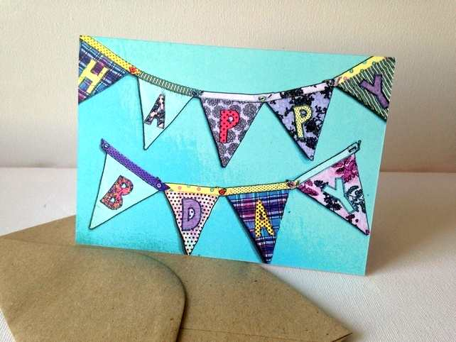 birthday card bunting a go-go