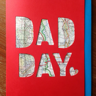 fathers day card maps Father's Day