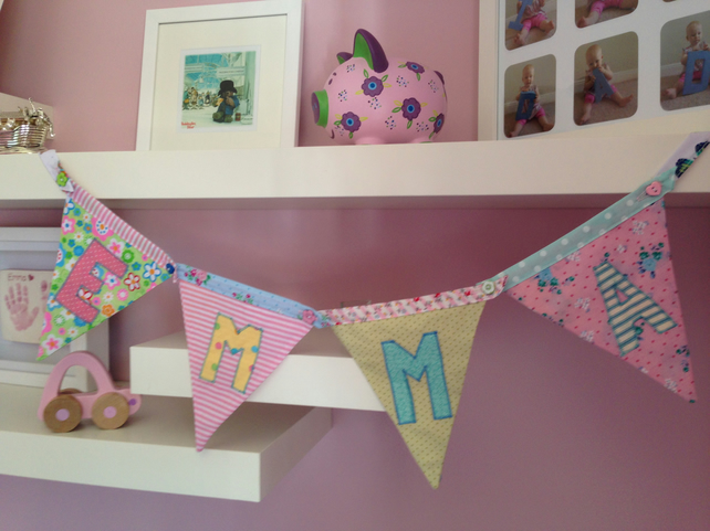 Bright girly bunting!