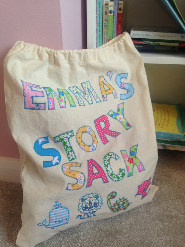 Story sack personalised you bag