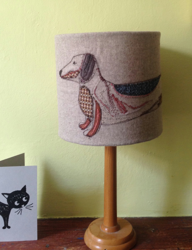 Sausage dog lampshade country living