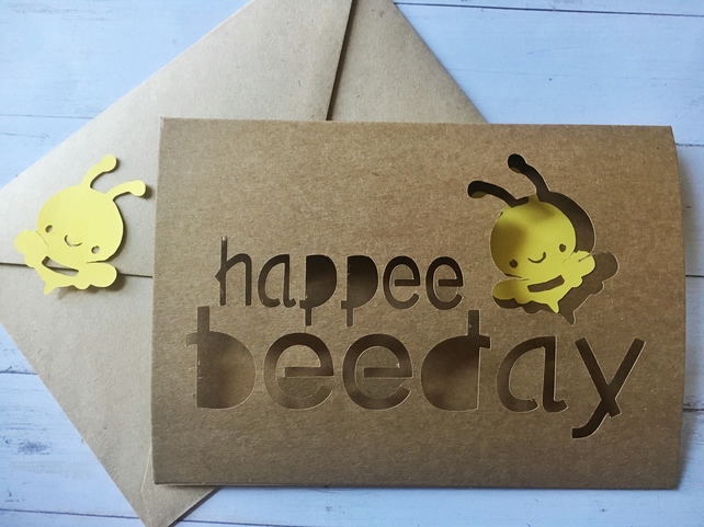 Birthday bee card happy birthday!