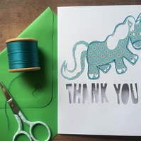 Thank you unicorn animal card