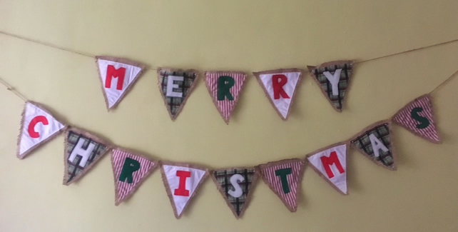 Christmas bunting for country living