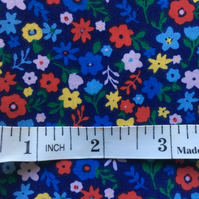 Fat quarter flowery poly cotton