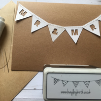 Mr & Mrs bunting card