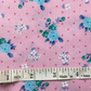 Fat quarter flowery pink girly poly cotton