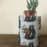 Desk tidy craft storage pot squirrel