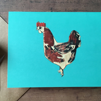 Hen chicken cock card