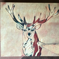 Christmas card deer
