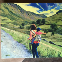 Lake district adventure mum - greetings card