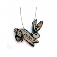 Resin Victoriana lyrics Rabbit Literary Necklace by EllyMental
