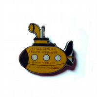 Yellow Submarine Beatles Brooch by EllyMental