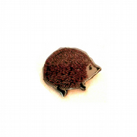 LARGE Red Hedgehog whimsical resin Brooch byEllyMental Jewellery