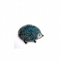 Blue Hedgehog whimsical resinBrooch by EllyMental Jewellery