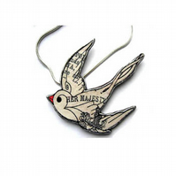 Smaller Swallow Necklace by EllyMental Jewellery
