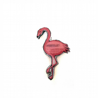 Sweetheart Pink Flamingo Brooch by EllyMental