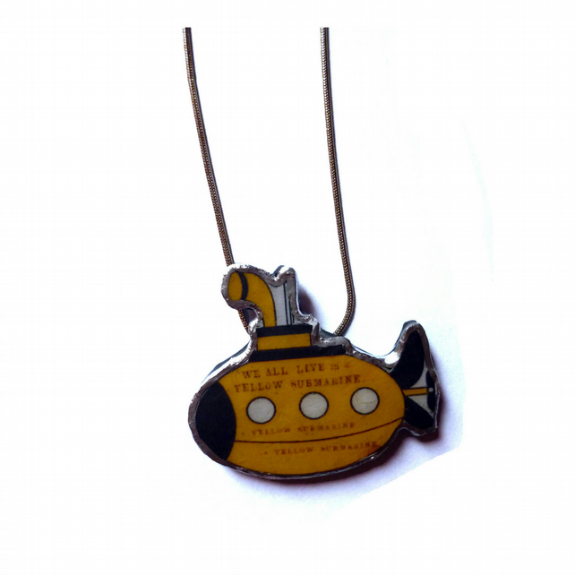 Yellow Submarine Beatles Necklace by EllyMental