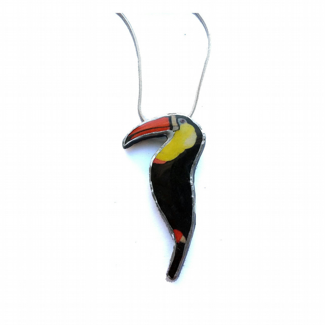 Little Whimsical Resin Toucan Necklace by EllyMental