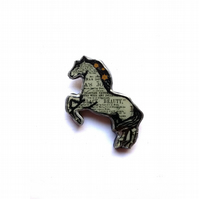 Black Beauty Horse literary Brooch by ellyMental Jewellery