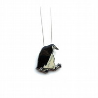 Little Whimsical Penguin Necklace by EllyMental