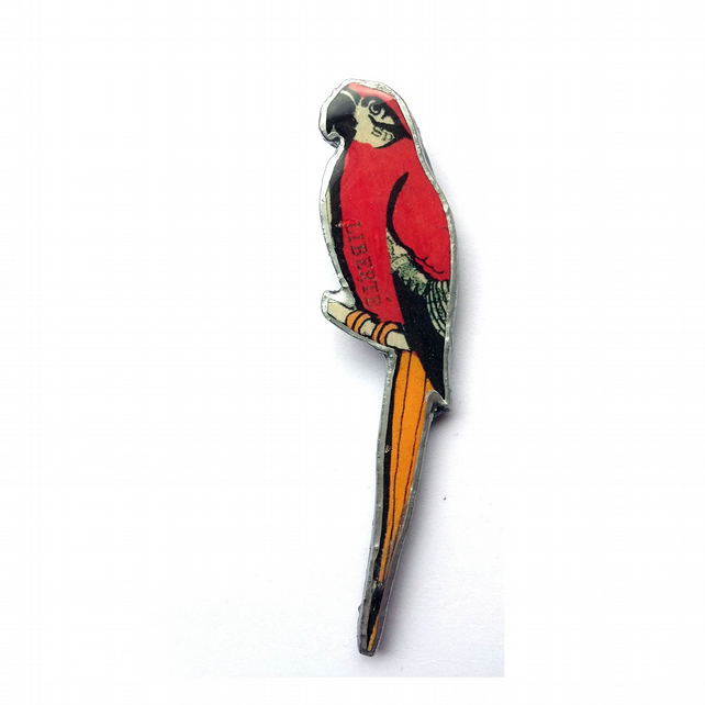 Whimsical Parrot Bird Brooch by EllyMental